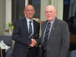 Enmore captain Graham Pain hands over to Steve Lukins.jpg
