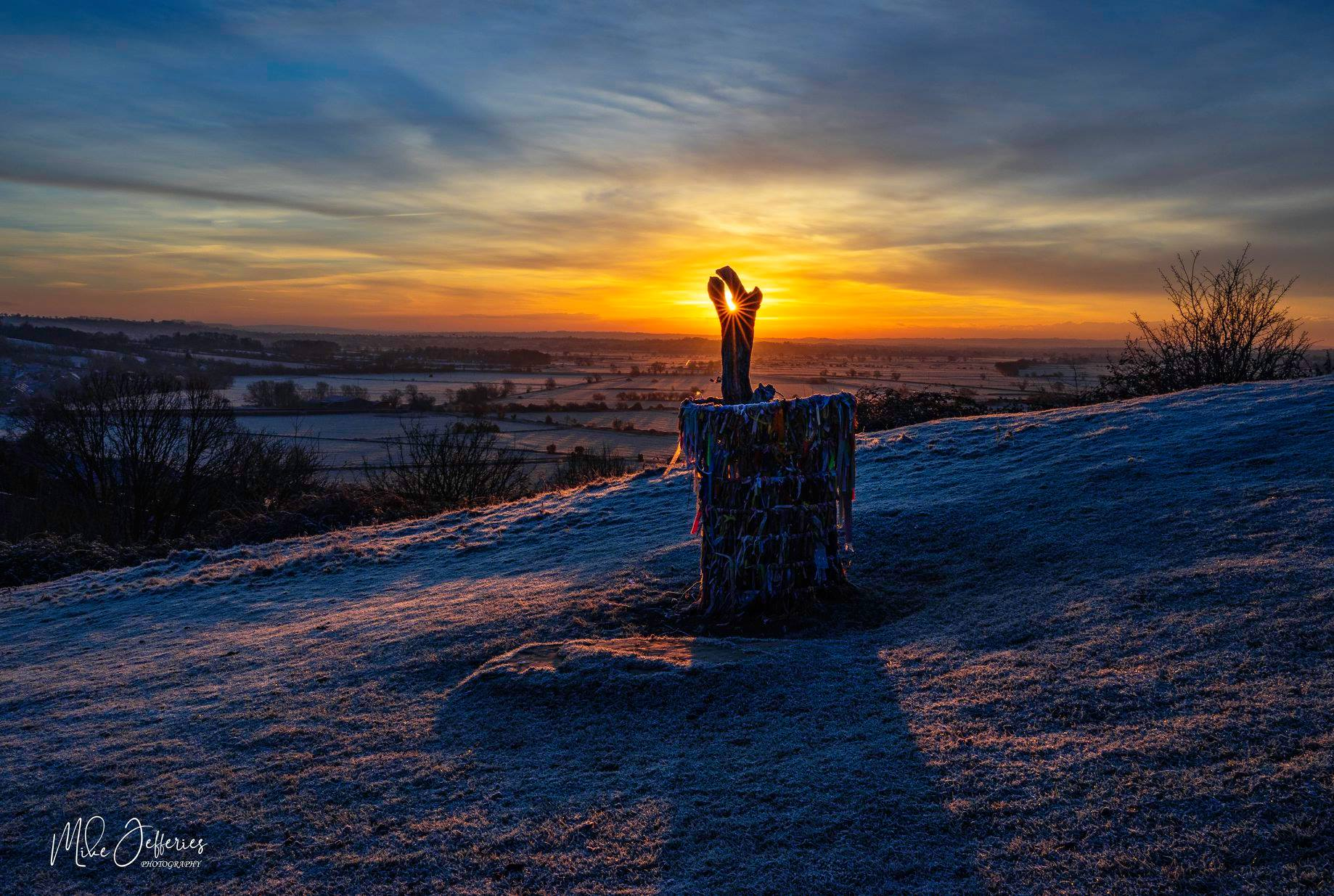 SNOW: Somerset Camera Club member Mike Jefferies shot of snow in Glastonbury