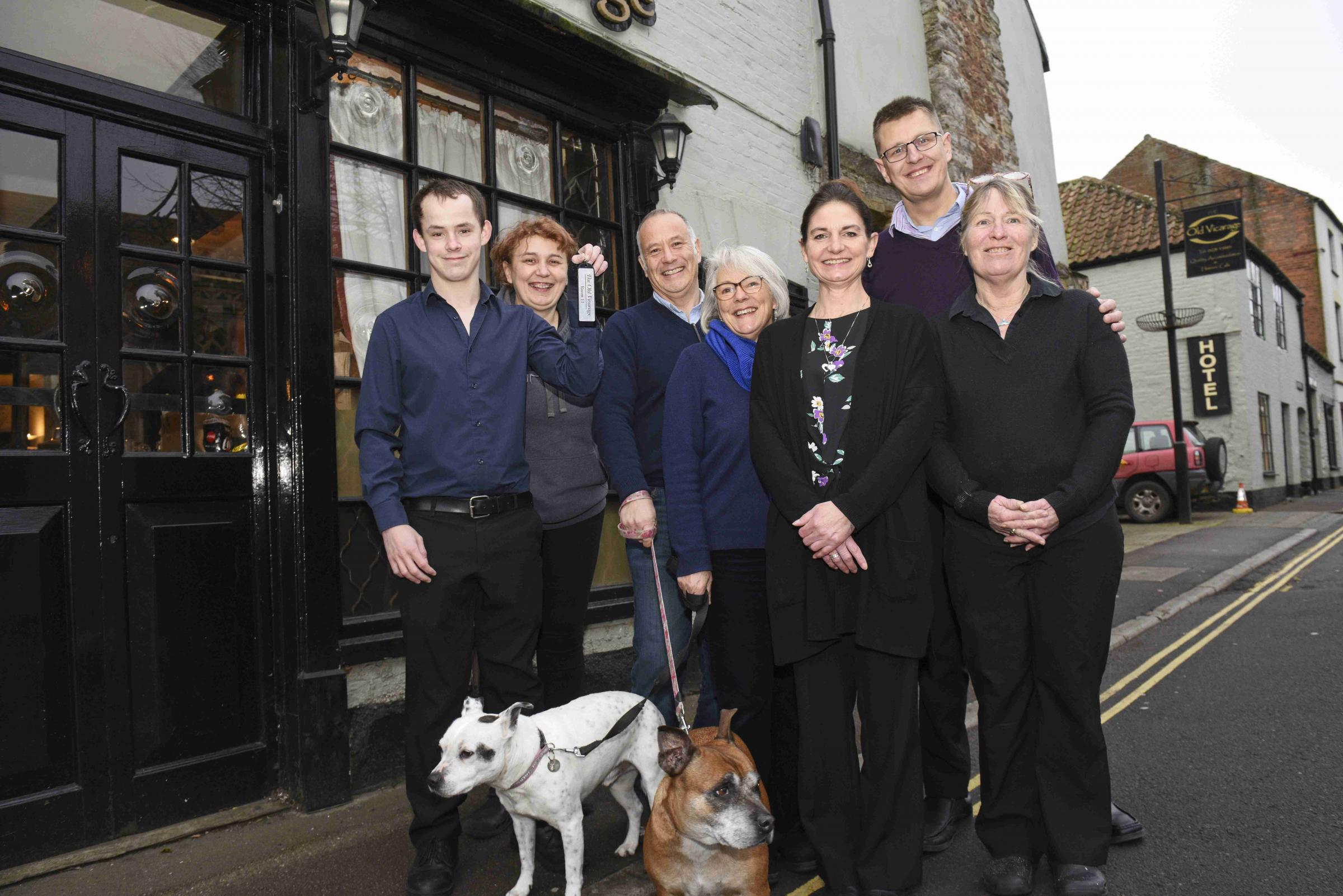 FRESH START: Husband and wife team Peter Starling and Candida Leaver (centre) with their team outside The Old Vicarage