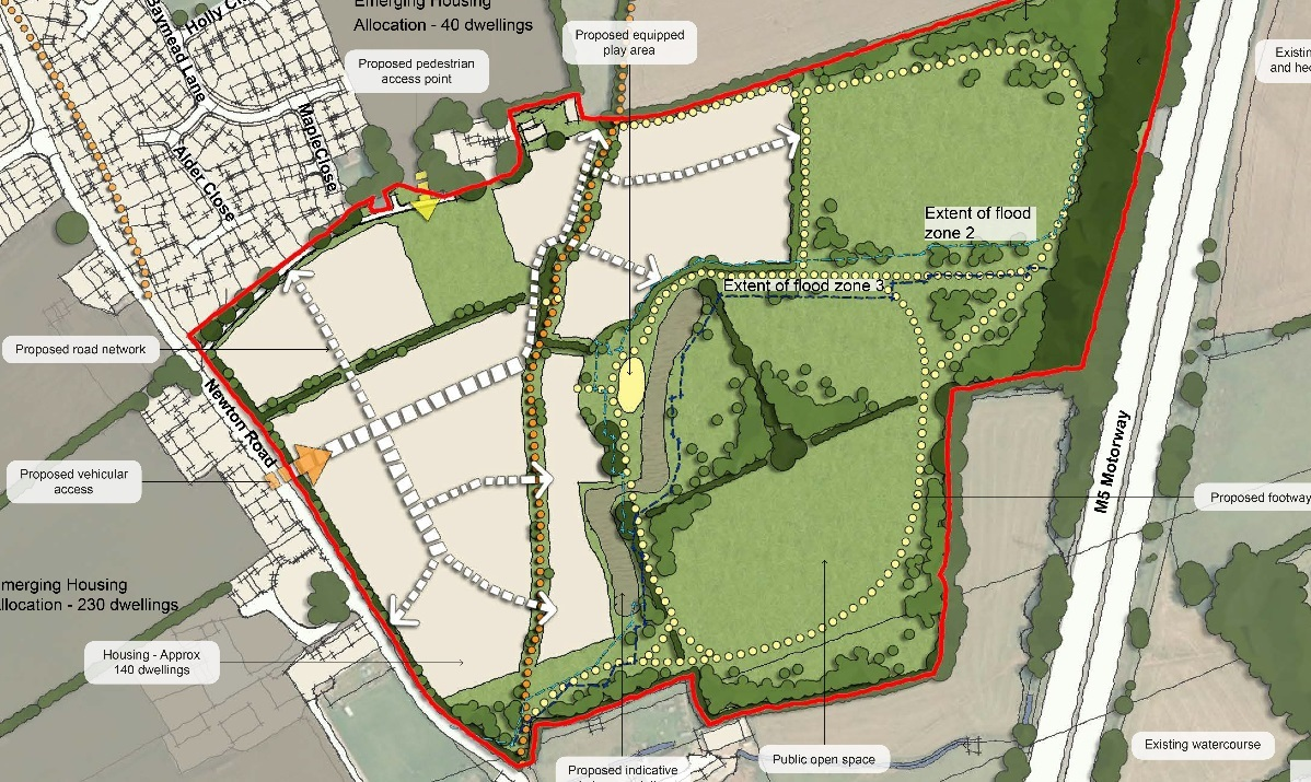 SAGA: Plans for 140 homes on land off Newton Road in North Petherton have been in the balance for nearly two years