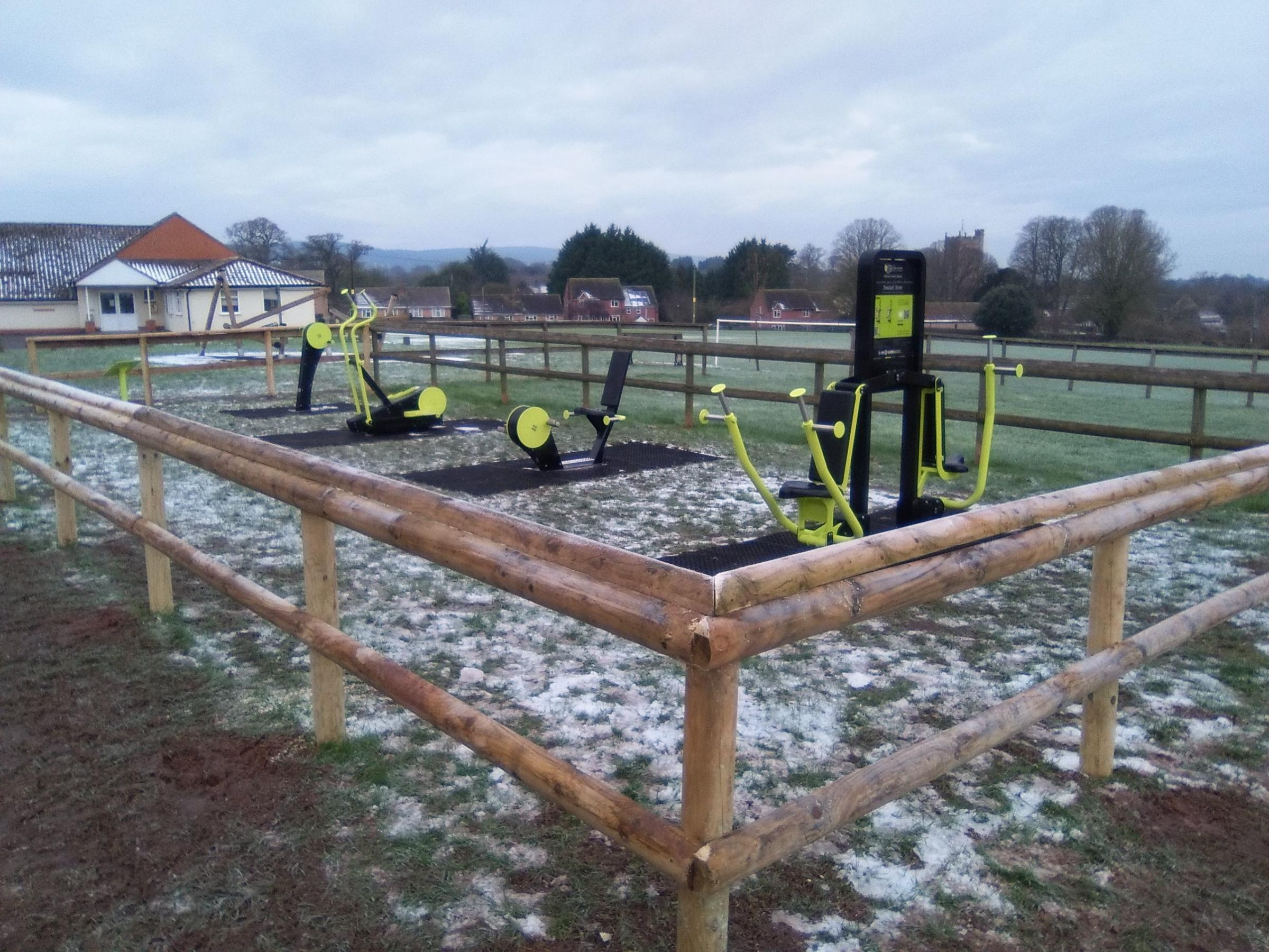 NEW ADDITION: The new outdoor gym facilities in Spaxton