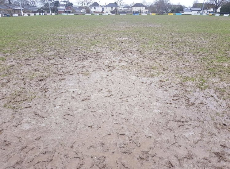 GAME OFF: Willand Rovers' Silver Street pitch is too wet to host Bridgwater Town this weekend. (Pic: @WillandRovers)