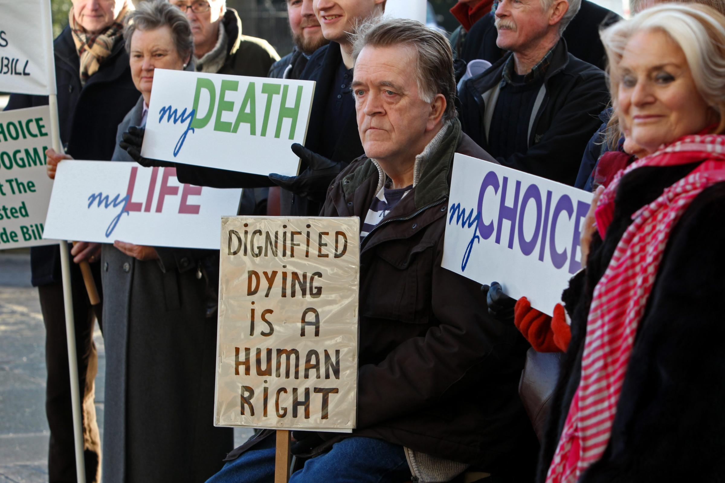 CAMPAIGN: There have long been protests over the right to end your own life. PICTURE: Stewart Attwood