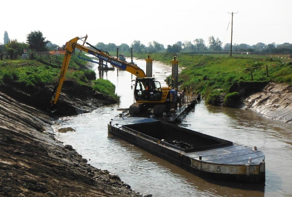 DREDGING: A previous dredging exercise being carried out on the River Parrett