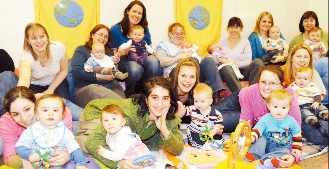 GATHERING: Mums and babies say a fond farewell to the Bridgwater group