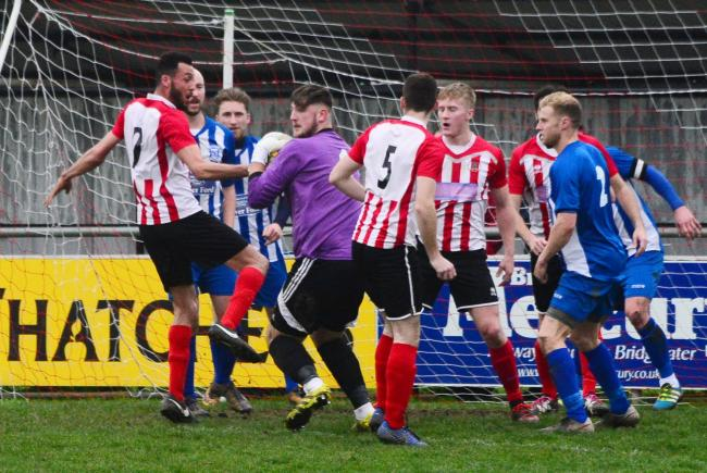 WITHDRAWN: Bridgwater Town Reserves, in action against Minehead AFC earlier this year. Pic: Steve Richardson
