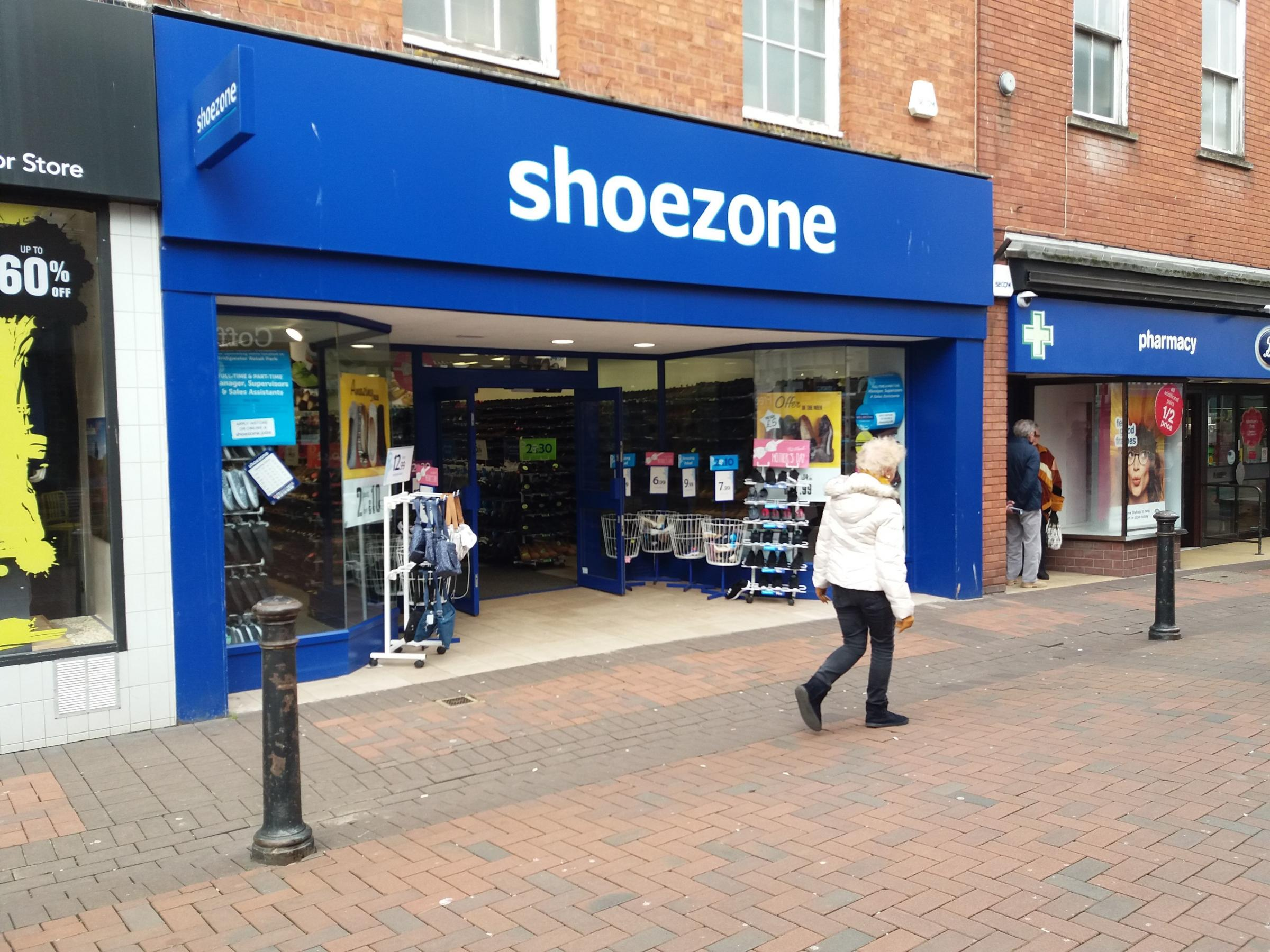STAYING: The Shoe Zone in Fore Street is staying - despite plans for the company to open a second larger store at Bridgwater retail park