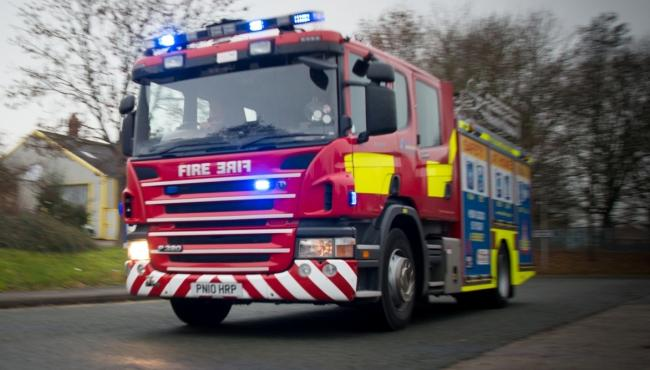 CALLOUT: To reports of a tractor fire near Bridgwater