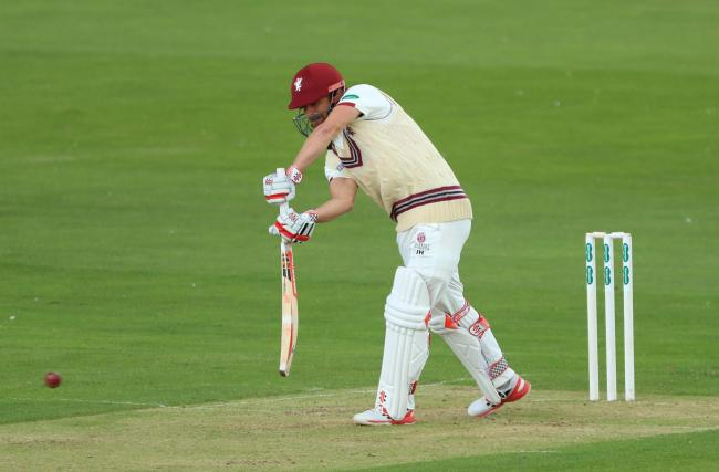 Somerset's James Hildreth fell to a loose shot against Essex