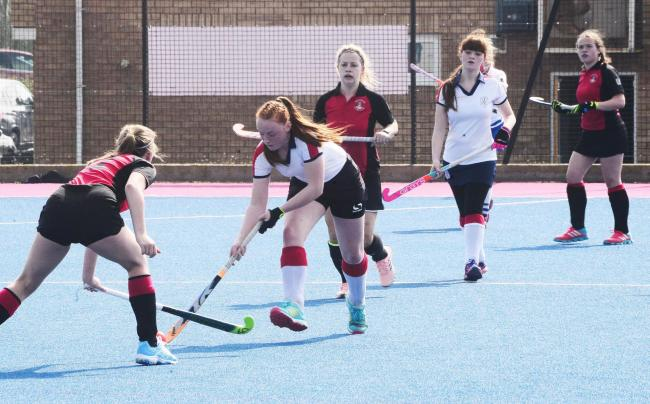 LEAGUE ABANDONED: A clash between women's teams from Bridgwater and Taunton Vale Hockey Clubs (pic: Steve Richardson)
