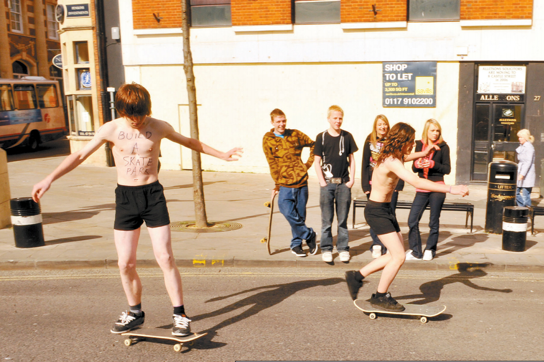 DEMONSTRATION: The skaters in 2009
