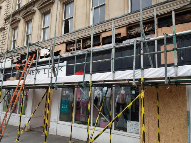DAMAGE: Bridgwater's New Look store was heavily damaged in a fire last month