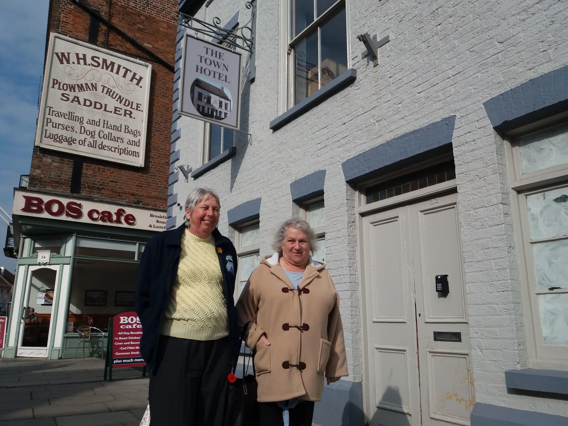 FRUSTRATION: Pat Morgan and Pat Robinson from the Bridgwater Civic Society