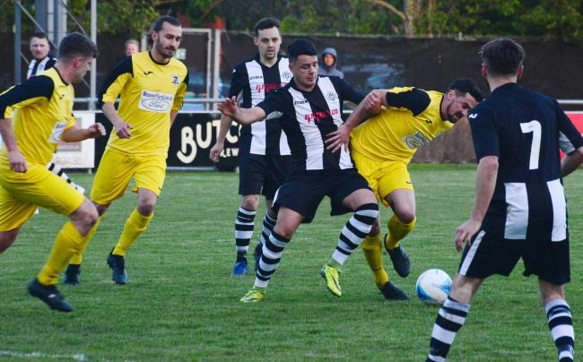 DEFEAT: Middlezoy Rovers were left disappointed against Nailsea United. Pic: Steve Richardson.