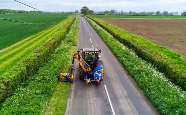 SAFETY: Road side grass cutting taking place