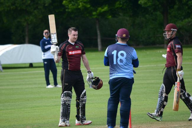 TON UP: Steve Tinnion, who scored 143 for Shapwick & Polden on Saturday. Pic: Aisling Magill