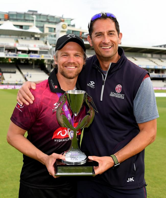 NEW DEAL: Jason Kerr led Somerset to One-Day Cup glory in 2019. Pic: Alex Davidson/SCCC