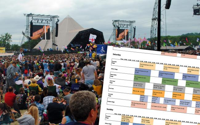 TIMETABLE: The Chalshfinder helps festival goers plan ahead... PICTURES: Paul Jones