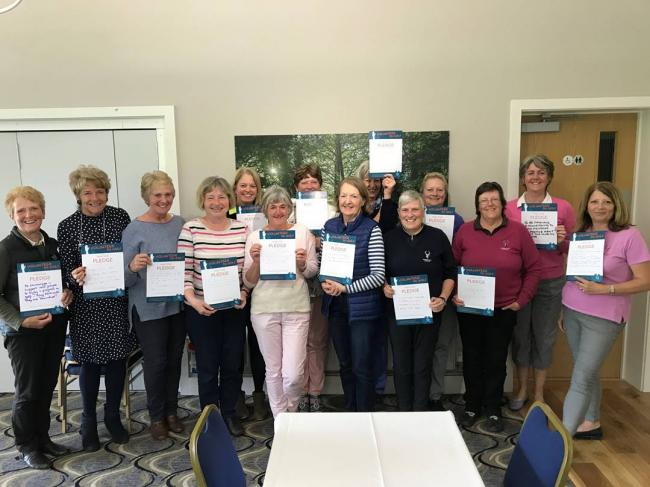 VOLUNTEERS: Enmore Park Ladies who attended the England Golf training session