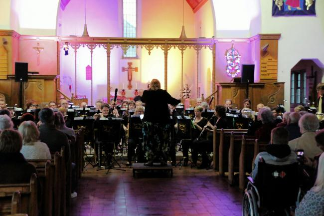 Worlewind band performed at Holy Trinity Church in Bridgwater on June 15